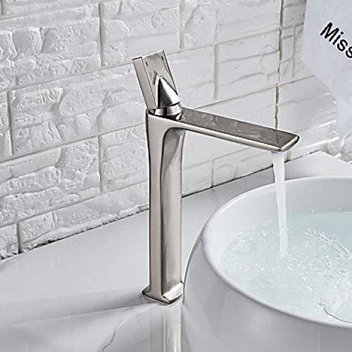 Grifo de tocador para baño, grifo de lavabo de baño, esparcidor cromado/bronce de aceite/níquel cepillado, montaje en techo con una sola mano, cepillo de níquel G3/8 pulgadas