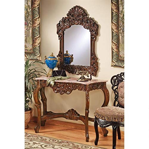 Check Price Design Toscano The Dordogne Mirror And Marble Topped Console Table Set Antoni Sergeydse