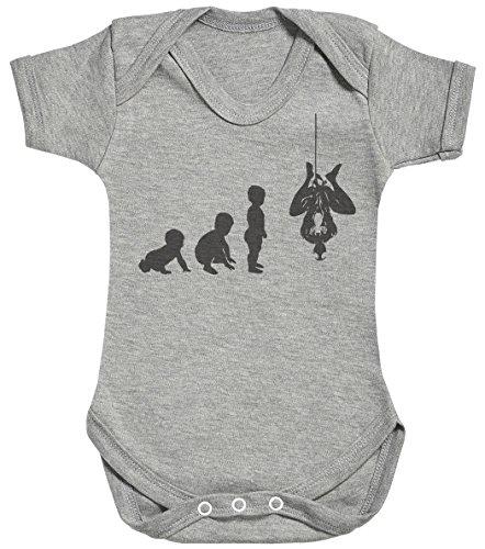Baby Evolution to A Spider Man Body bébé - Gilet bébé - Body bébé Ensemble-Cadeau - Naissance Gris