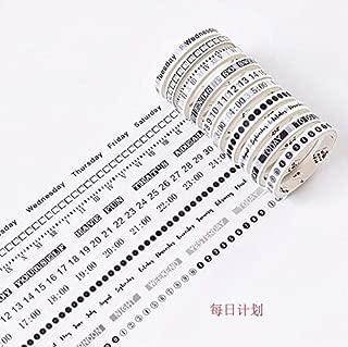Washi Tape - 10pcs/lot Retro Daily Plan/to do Simple Number Alphabet Date Week Plan Clock Decoration Washi Tape DIY Scrapbooking Masking Tape