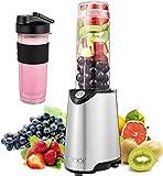 Aicok Blender Smoothie, Portable Mini Blenders Mélangeur de Fruits pour Smoothie, Milk-shake,Jus de fruits, Mixeur Electrique Multifonction de 500 ml, Sans-BPA et Corps en Inox