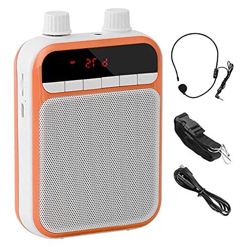 ZITFRI Amplificador de Voz Portatil Bluetooth Recargable 3000 mAh, Altavoz Portatil con Microfono Auriculares, Amplificador de Voz Portatil para Profesores, Guía Turístico etc, Admite USB/TF T