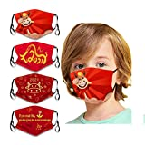 DESIGN: Our kids face protection with ear loops are adjustable, washable and reusable! Flexible wire nose band. Package comes with 4 pieces kids face masks in different cute cartoon patterns,such as christmas, unicorn, dinosaur, shark, panda, crocodi...