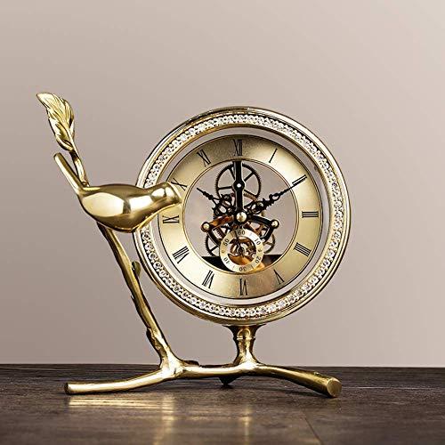 Wyxy Reloj De Chimenea, Escritorio Antiguo Y Reloj De Cobre Puro, Reloj con Marco De Engranajes 3D, Sala De Estar, Sala De Lectura, Comedor, Decoración De Oficina