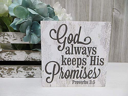 Ral454ick Letrero religioso con Texto en inglés «God Always Keep His