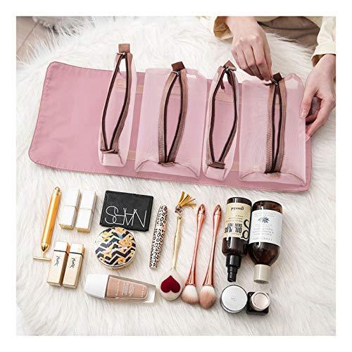 Bolsa de cosméticos, bolsa de maquillaje diaria profesional Subsky para viajes, bolsa de maquillaje de gran capacidad para niños, mujeres y niñas (B)