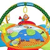 PUDDINGT Alfombras de Juego Gimnasio de Actividades Baby Play Mat & Activity Gym con,Juguetes para Actividades,Cama pequeña,Colorido e Interactivo