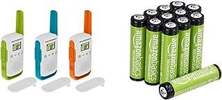 Motorola T42 Triple Talk About – Aparatos de Radio (Juego de 3, PMR446, 16 Canales, Alcance 4 Km) Multicolor + Amazon Basi...