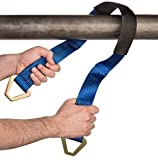 Premium Axle Strap by Vault - Tie Down Your Vehicle to a Trailer with Heavy Duty Straps - 10,000 Lbs Break Strength - 3,333 Lb Working Load - Great Accessory for Ratchet Straps, Come Along or Winch