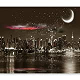 Fotomural 400x280 cm ! Papel tejido-no tejido. Fotomurales - Papel pintado Noche City Villa New York d-A-0044-a-a
