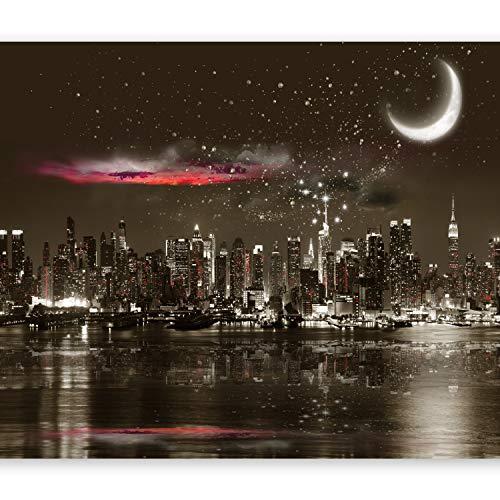 murando – Papier peint intissé – 350x256 cm – Papier peint – Trompe l oeil - Tableaux muraux – Déco – XXL– Nuit City Ville New York d-A-0044-a-a