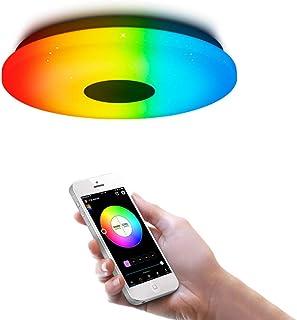comprar comparacion OFFDARKS Iluminación de techo de interior LED moderna, control de WiFi/aplicación Lámpara de techo compatible con Alexa y ...