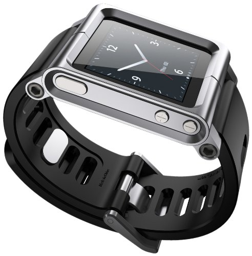 LunaTik  Sportuhrenarmband für iPod, silber/schwarz, 4101