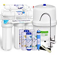 Pureplus 5-Stage Reverse Osmosis Filtration System with Nickel Faucet and Tank
