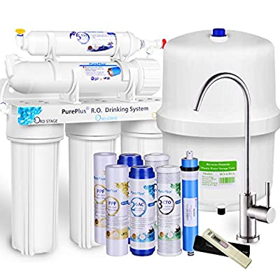 5-Stage Reverse Osmosis Filtration System 80GPD...