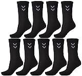Hummel 9 pares de calcetines deportivos unisex, 22030, Negro , 41 - 45 (Size 12)