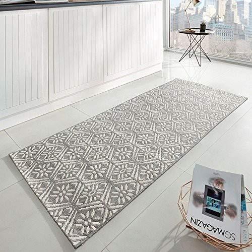 Zala Living Creation Küchenläufer, Polypropylen, Grau/Creme, 80x200 cm