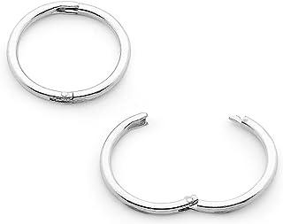 365 Sleepers 1 Pair Solid Sterling Silver 18G Hinged Hoop Sleeper Earrings Made In Australia 8mm/10mm/13mm/16mm