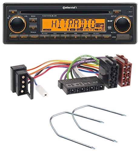 caraudio24 Continental CDD7418UB-OR Bluetooth USB CD DAB MP3 Autoradio für Mercedes E-Klasse W124 S-Klasse W126