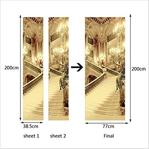 Selbstklebende Papier Dekoration Schlafzimmer Wohnzimmer Tür Aufkleber Tür Aufkleber Burg Ebay Studie Tür Aufkleber