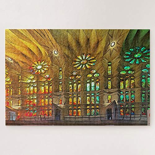 Jigsaw Puzzles 1000 Pieces For Adults Large Piece Puzzle Sagrada Familia. Interior. View 19. Fun Game Toys Birthday Gifts Fit Together Perfectly