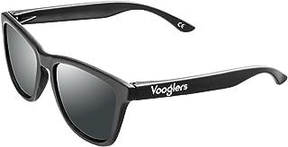 Voogler - Gafas de Sol Mujer Hombre Unisex Polarizadas UV400 Vooglers Volcano Dark Cristal Negro Oscuro Lentes Negras Marco Negro Mate