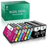 GREENSKY 932XL 933XL Cartuchos de Tinta de Repuesto compatibles para HP Officejet 6100 6600 6700 7110 7510 7610 7612 2 Negro 2 Cian 2 Magenta 2 Amarillo (Paquete de 8)