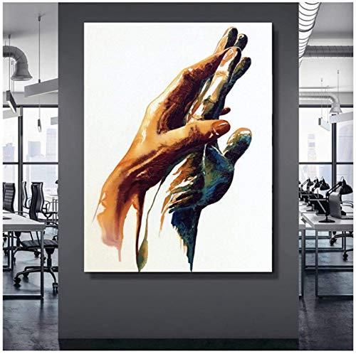 Impresión en lienzo 50x70 cm sin marco Cuadros abstractos de manos Pintura en lienzo Arte de la pared Póster Impresiones Decoración de la habitación Impresiones en lienzo Decoración para el hogar
