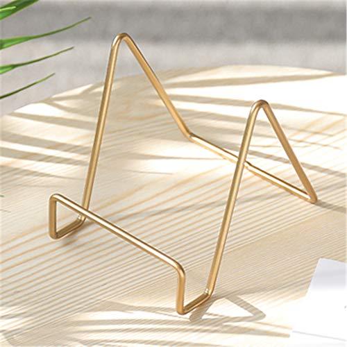 SD&EY Estante de Escritorio geométrico estantería multifunción teléfono Tablet Stand Restaurante Placa Soporte,gold2
