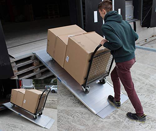 TRUTZHOLM Auffahrrampe Breitrampe Eventrampe Rollstuhlrampe Laderampe 214,5 cm lang - 78 cm breit 600 kg