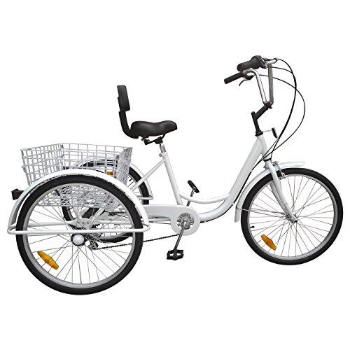 Ridgeyard 6 Speed 24 Inch 3 Wheel Adult Tricycle