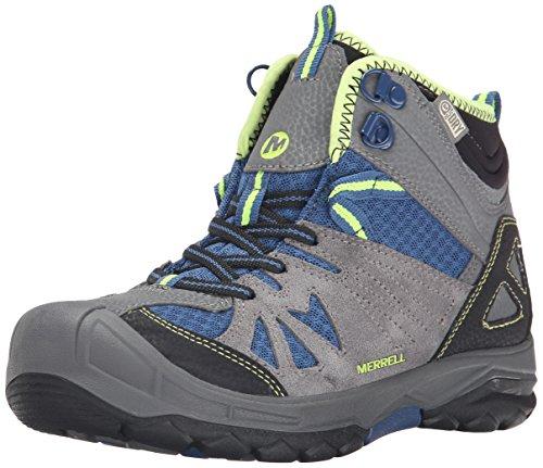 Merrell - Capra Mid - Chaussure de randonnée - Mixte enfant - Turquoise (Turq) - 29 EU