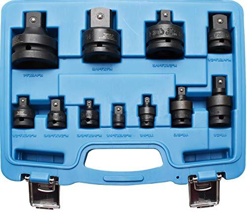 "BGS 25140 | Kraft-Adapter- und Kugelgelenk-Satz | 6,3 mm (1/4\"") - 25 mm (1\"") | 11-tlg."