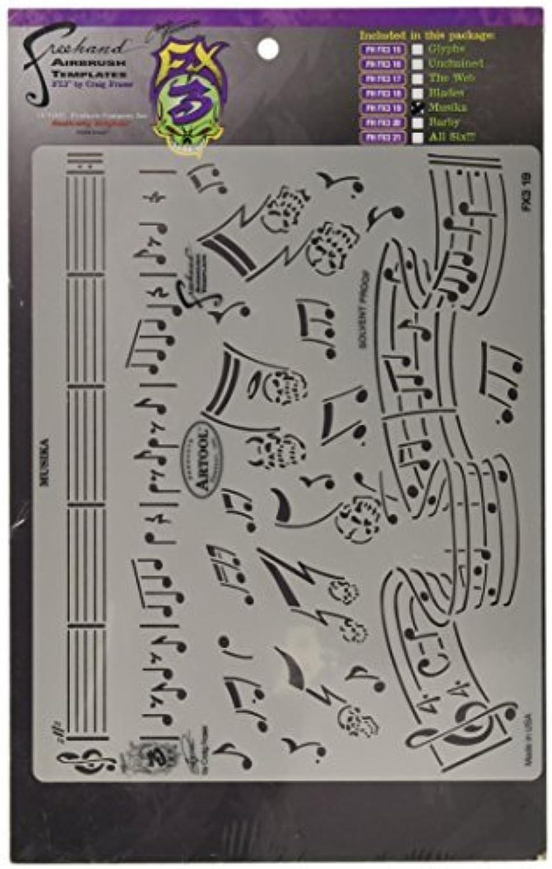 Artool Freehand Airbrush Templates, Stencil Musika by IwataMedea