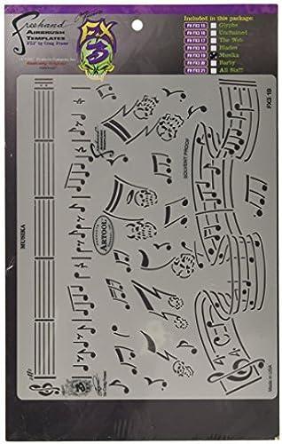Artool Freehand Airbrush Templates, Stencil Musika by Iwata-Medea
