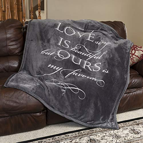 1i4 Group Soft Sentiments Outrageously Soft Reversible Velvet Ultra Plush Throw -...