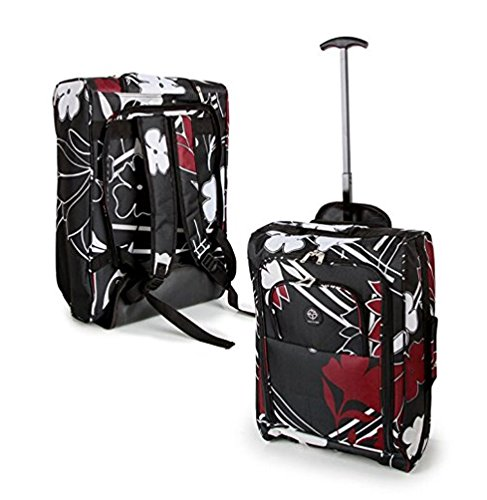 Compass Bagaglio a mano Midnight Floral Cabin Trolley with Backpack