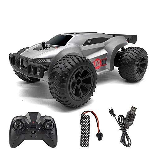 Big-pie 2.4G Escalada de alta velocidad de absorción de choque Monster Truck RC, Off-Road Racing coche con la luz, de carga USB todo terreno de carreras de coches, cumpleaños del niño Regalo de contro