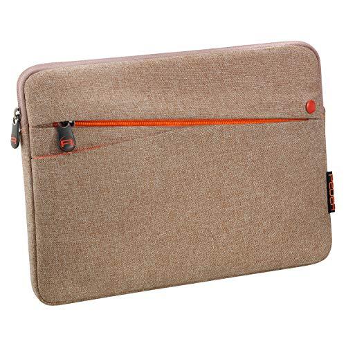 Pedea Tablet PC Tasche Fashion für 10,1-11 Zoll (25,6-27,96 cm) Schutzhülle Etui Hülle mit Zubehörfach, beige