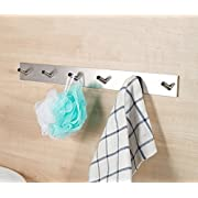 ETiME 6 Haken Wandhaken Edelstahl Bad und Küche Handtuchhalter Kleiderhaken Ohne Bohren, einfach zu installieren, super starke Haftung