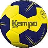 Kempa Gecko-Ballons de Handball Taille 3 Adulte Unisexe, Jaune Citron/Bleu Profond, 3