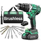 KIMO 20v Brushless Hammer Drill, 800 in-lb 1/2'...