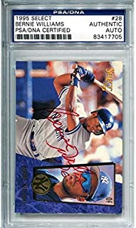 Bernie Williams Autographed 1995 Pinnacle Select Card (PSA/DNA) - Autographed Baseball Cards