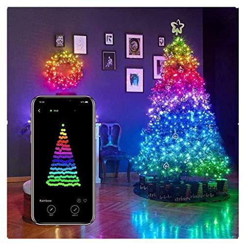 YueLove Weihnachtsbaum Dekoration Lichter, Smart App Controlled Weihnachtslichter (Alexa & Google Home Compatible), Für Weihnachtsbaum Garten Dekoration Custom Led String Lights (20 Meter 200 Lichter)