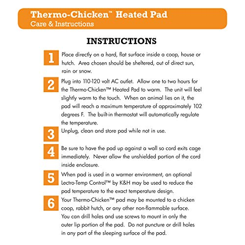 K&H Manufacturing Thermo-Chicken Heated Pad,...