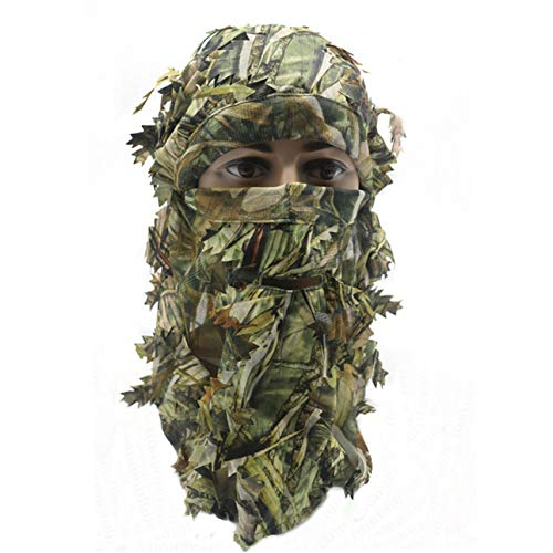 Ba30DEllylelly Pasamontañas de Camuflaje 3D, máscara de Cara Completa, Juego de Guerra,...