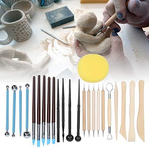 01 Herramienta para Manualidades de Escultura, Suave 25 Piezas, Accesorio de Arte Artesanal Multiusos, Herramientas de cerámica para modelar