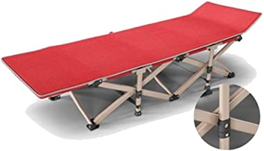 Home Outdoor/Single Bed Beach Bed Nap Bed Camp Bed Camping Bed Recliner (Color : Red)