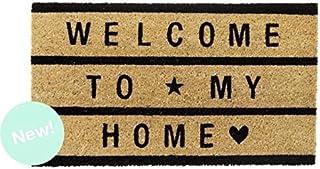 Dcasa - Felpudo de fibra de coco Welcome To My Home negro 40x70