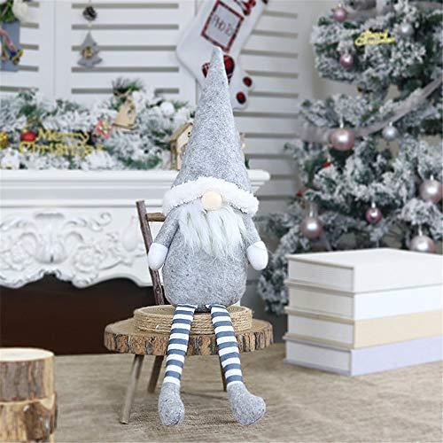 Dingcaiyi - Muñeco de Papá Noel Sueco de Peluche como Adorno de Mesa, Navidad, Acción de Gracias, C